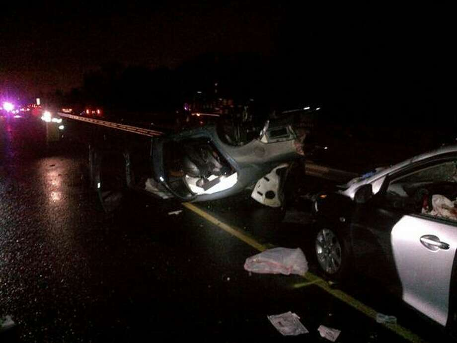 The vehicle that caused the Burien pile-up rolled down an embankment about 5 a.m.. Photo: Washington State Patrol