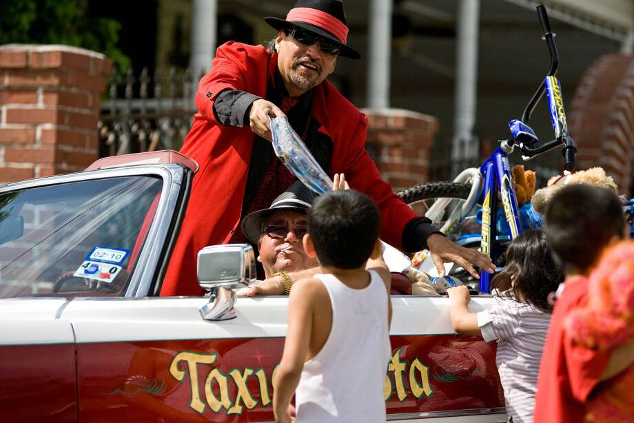 """Pancho Claus, Richard Reyes: """"He's a low-riding, zoot suiter who breaks into the bathroom window because there's not a lot of chimneys in (Houston's) second ward."""" Photo by Nick de la Torre."""