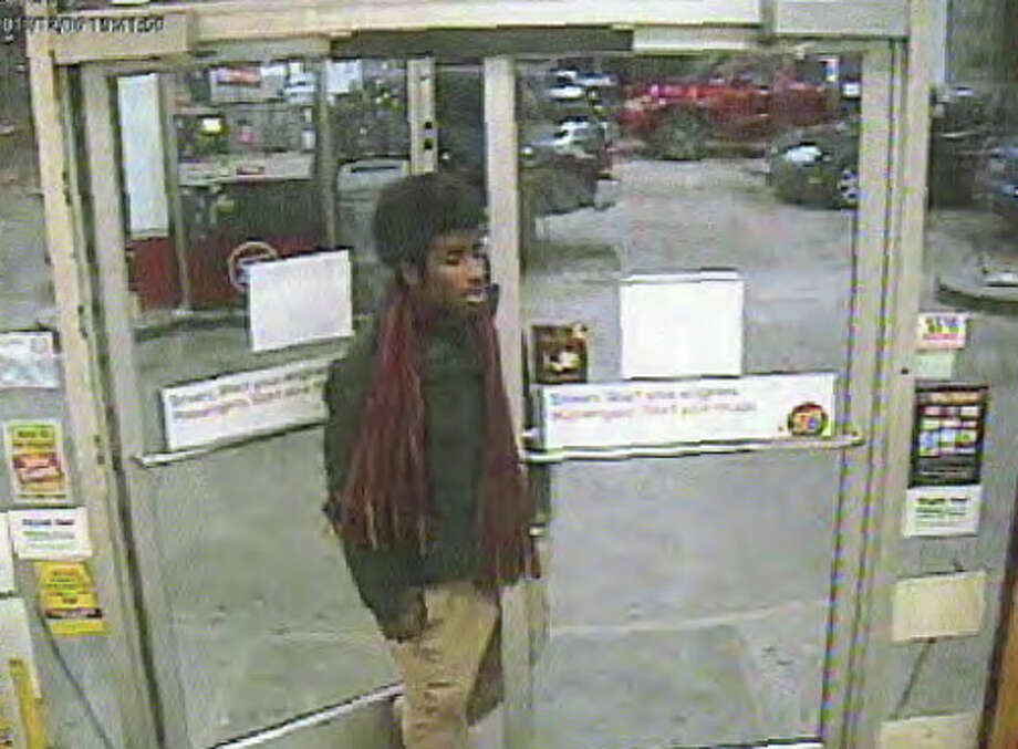 A robbery suspect identified by police as Julius Haywood, Jr., pictured at a First Hill gas station. Prosecutors contend Haywood shot the store clerk after stealing a 12 pack of beer. Photo: Seattle Police Department