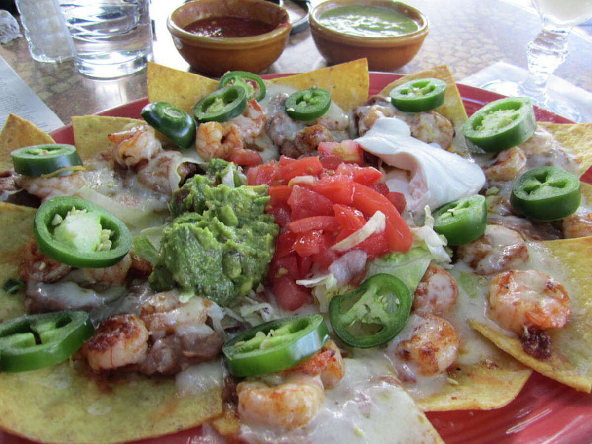 Shrimp nachos at Cafe Adobe on Westheimer.
