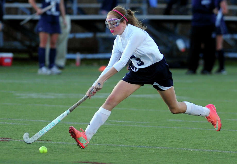 Lauralton Hall's Kara Duggan, of Fairfield, during the CIAC Class M girls state field hockey championship against Wilton on Nov. 16 in Wethersfield. Photo: Christian Abraham / Connecticut Post