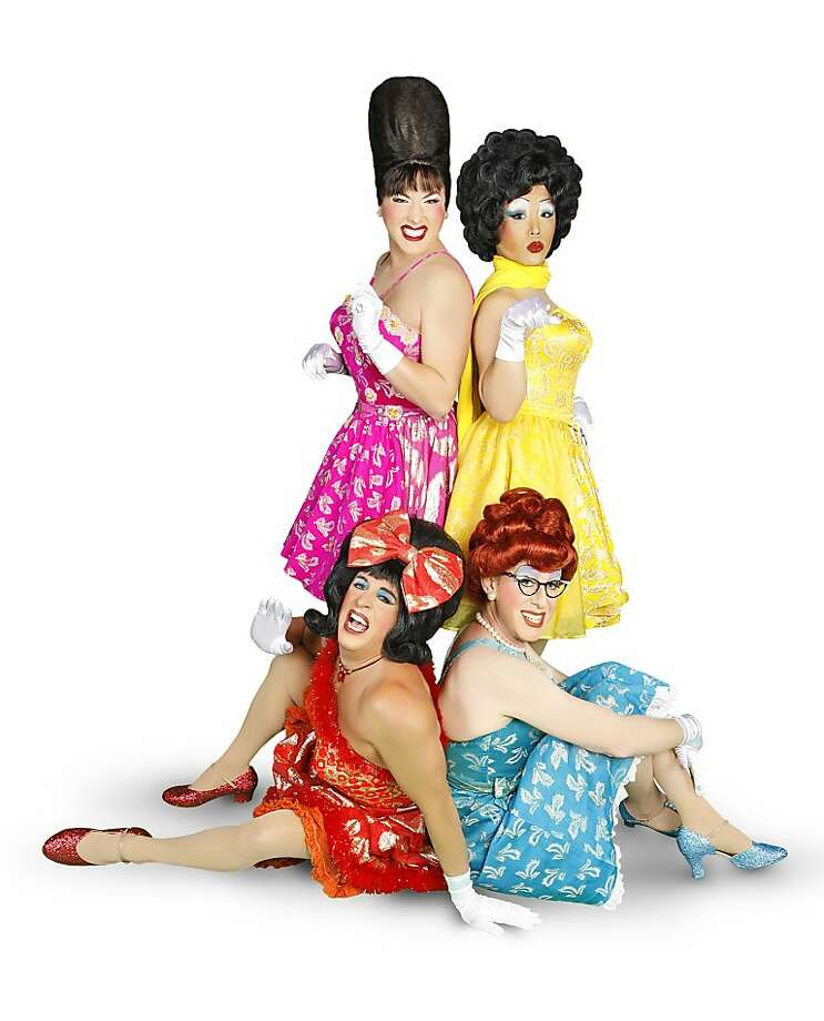 The Kinsey Sicks have been performing for 20 years (clockwise from top left): Trampolina (Spencer Brown), Trixie (Jeff Manabat), Winnie (Irwin Keller) and Rachel (Ben Schatz). Photo: Vixen Pinup Photography
