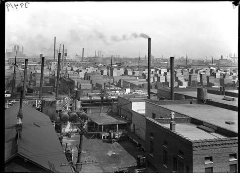 Edward Hines Lumber Company yard in Chicago is pictured. Photo: Field Museum Library, Getty Images / Archive Photos
