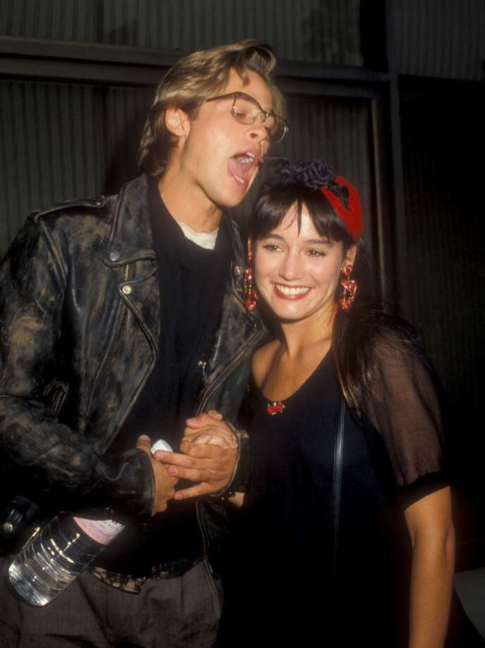 Why is he going to eat Jill Schoelen? Is it the hair that looks tasty, or the hair accessory? Photo: Barry King, WireImage
