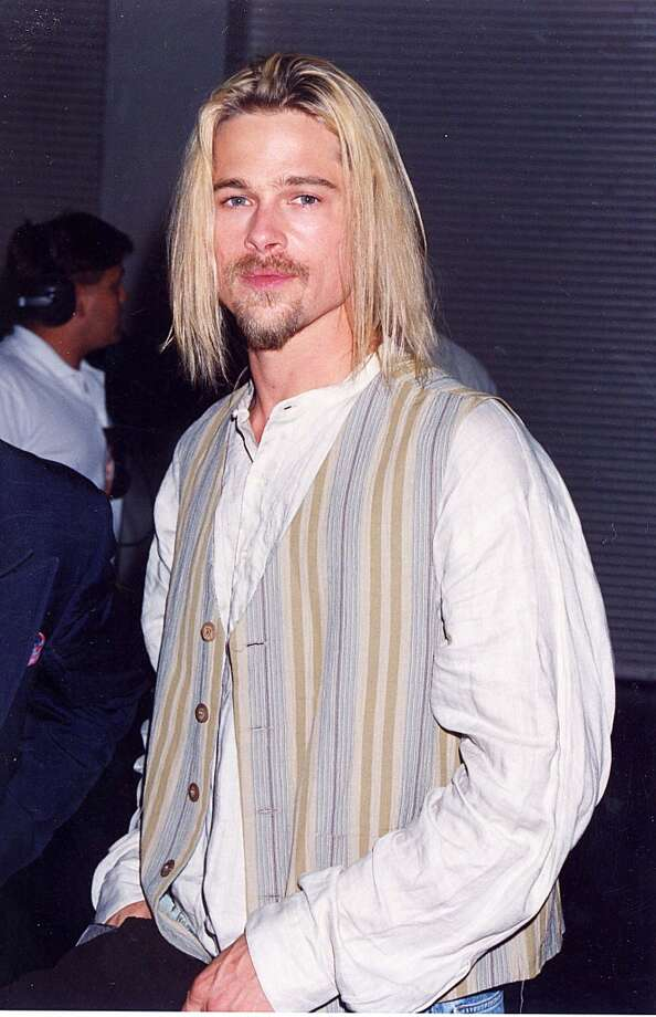 Somewhere, there is a special place where all of Brad Pitt's amazing vests are gathering for cocktails and a bit of reminiscing. Photo: Jeff Kravitz, FilmMagic