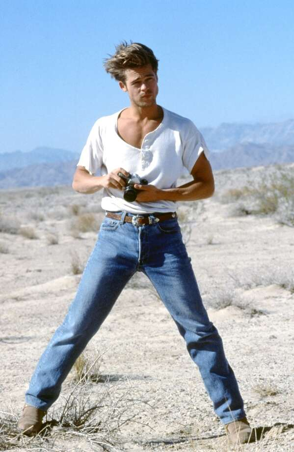 Never before have we liked wide collars and dad jeans this much. And in case you weren't sure whether he's in the desert, the Western-inspired belt and boots provide sense of place. Photo: Photoshot, Getty Images