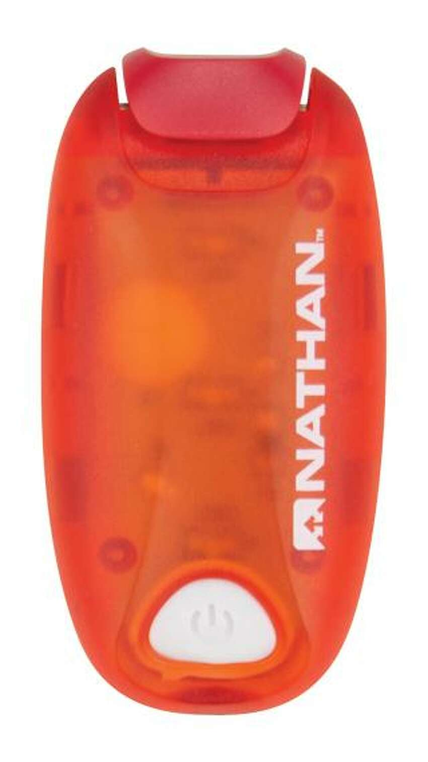 This LED strobe light ideal for runners and cyclists is a great find for $10. Find it at Nathan Sports.