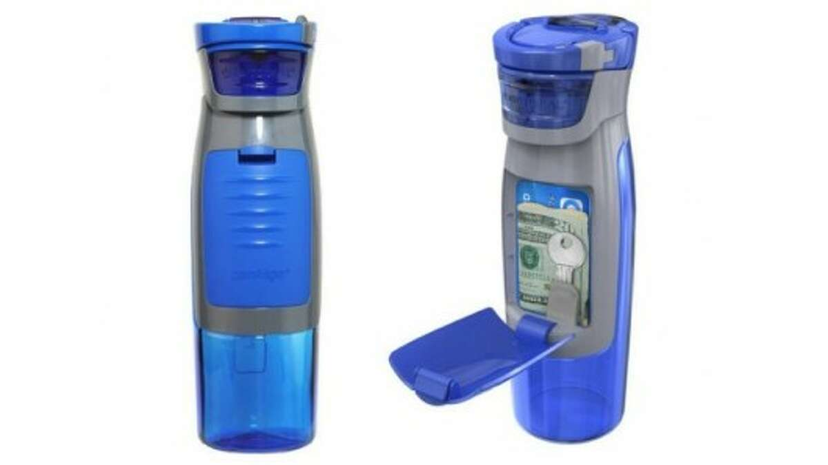 This 24 oz. AutoSeal Kangaroo Water Bottle from Contigo is perfect for a gym rat. Priced at $13.99 from Contigo.
