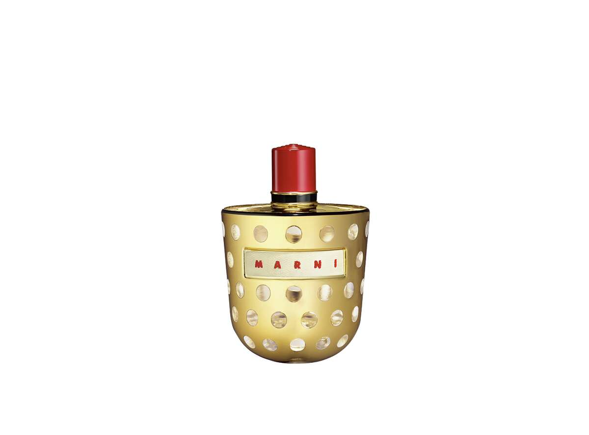Marni Metallic Eau de Parfum: Go for the gold this month with Marni s new gilt trip bottle, a limited edition bit of holiday opulence filled with a woodsy spice scent; $225 at select Saks Fifth Avenue stores.