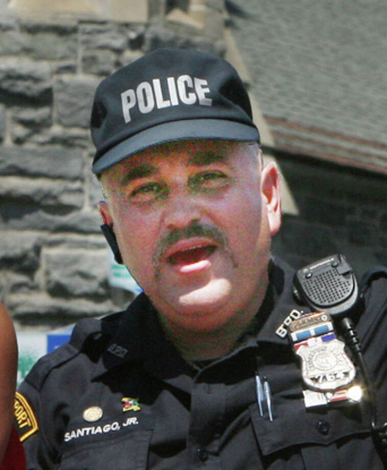Juan Santiago, Bridgeport Police Department Hispanic Society president during the 2012 Puerto Rican Parade of Fairfield County in Bridgeport on Sunday, July 08, 2012. Photo: B.K. Angeletti / Connecticut Post freelance BK Angeletti