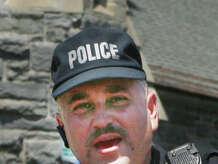 Juan Santiago, Bridgeport Police Department Hispanic Society president during the 2012 Puerto Rican Parade of Fairfield County in Bridgeport on Sunday, July 08, 2012.