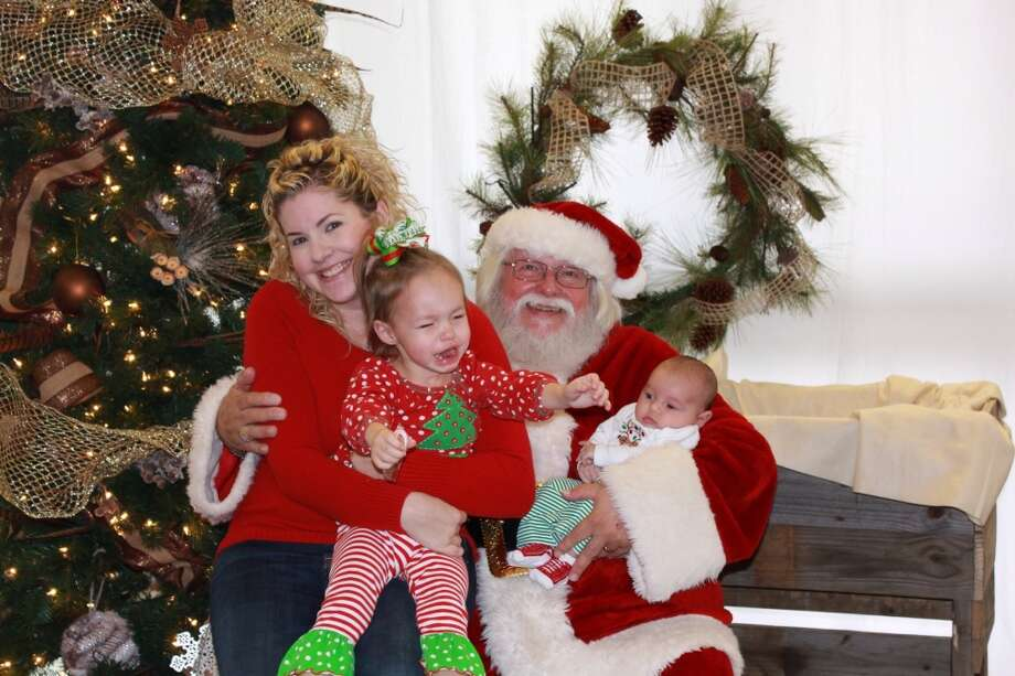 We took our 2-1/2 year old daughter and 2 month old son to meet Santa... Obviously it didn't go over well with our daughter. Turns out that she is so scared of Santa so we had to tell her that Santa would send her gifts in the mail.  Ashlie Pereiras
