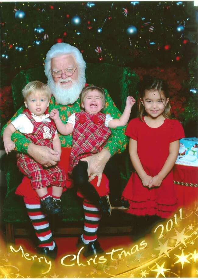 Avery was a little freakout by Santa this year...
