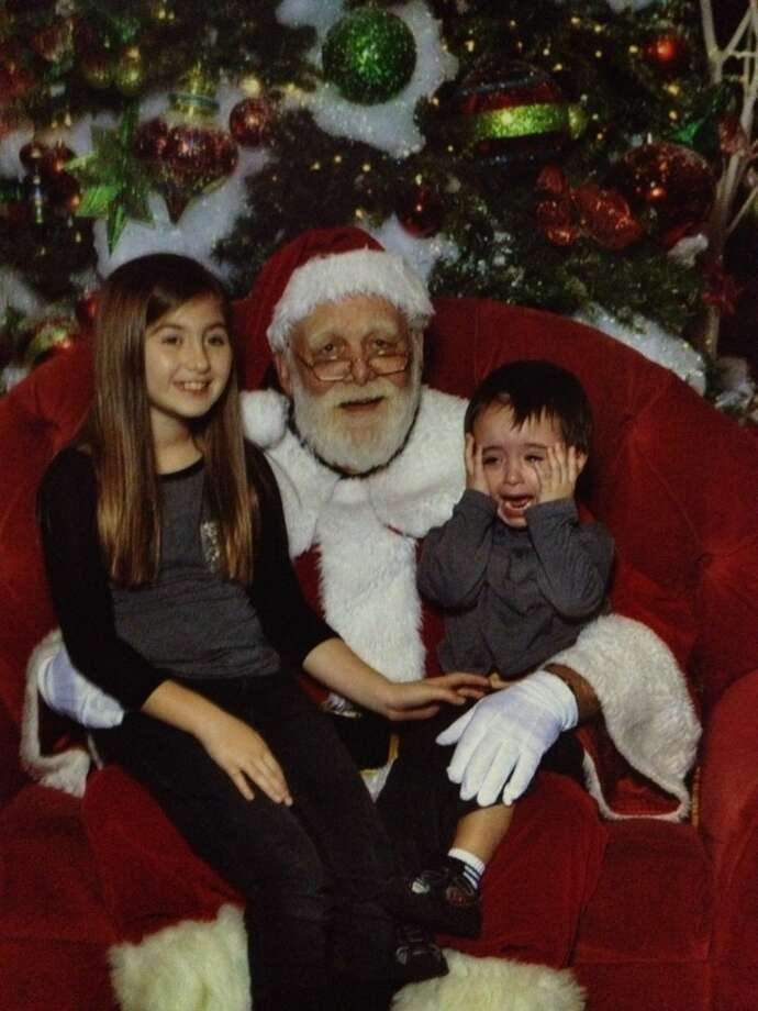 wouldnt look at santa (reminds you of the movie home alone)