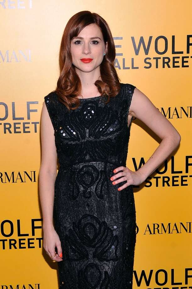 "Aya Cash attends Giorgio Armani Presents: ""The Wolf Of Wall Street"" world premiere at the Ziegfeld Theatre on December 17, 2013 in New York City. Photo: Stephen Lovekin, Getty Images For Giorgio Armani"