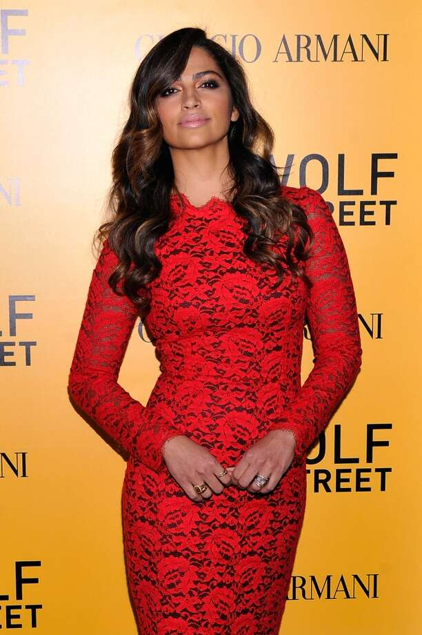 "Camila Alves attends Giorgio Armani Presents: ""The Wolf Of Wall Street"" world premiere at the Ziegfeld Theatre on December 17, 2013 in New York City. Photo: Stephen Lovekin, Getty Images For Giorgio Armani"