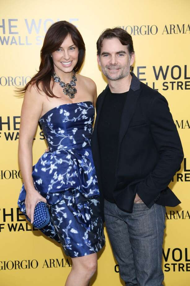 "Jeff Gordon and Ingrid Vandebosch attend the ""The Wolf Of Wall Street"" premiere at Ziegfeld Theater on December 17, 2013 in New York City. Photo: Rob Kim, Getty Images"