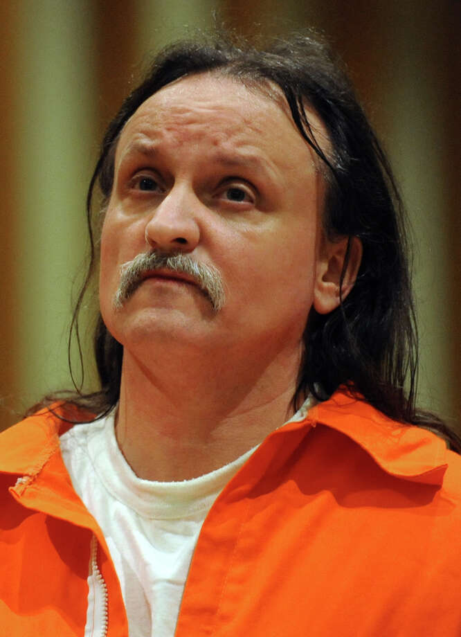 Richard Roszkowski who was convicted for the 2006 murders of his former girlfriend, her 9-year-old daughter and his former roommate during a pre-trial hearing on June 6, 2012. Photo: Autumn Driscoll / Connecticut Post