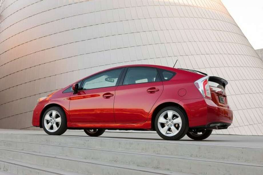 Resolution: Go GreenThe 2014 Toyota Prius gets 53 miles per gallon in the city and 46 miles per gallon on the highway. The Prius' fuel efficiency and hybrid options will help you stick to your resolution of helping the environment.