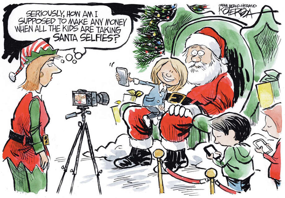 """Santa Selfie"" is by Jeff Koterba of the Omaha World Herald. Photo: Jeff Koterba"
