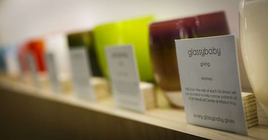 Glassybaby, maker of colorful glass votives, recently opened a retail outlet in San Francisco and is negotiating for Presidio space. Photo: Russell Yip, The Chronicle