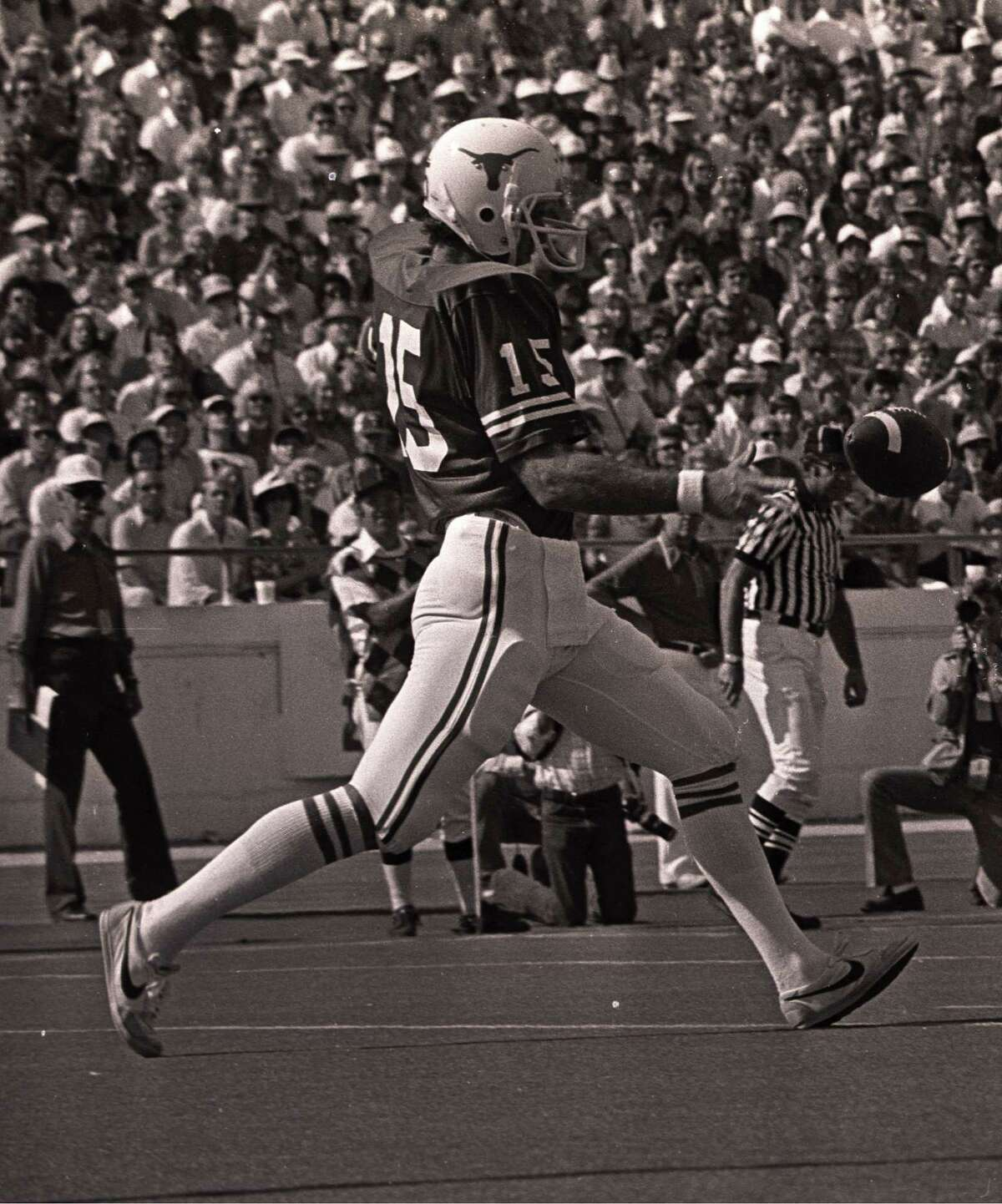 Russell Erxleben was known for both his booming punts and lengthy field goals at UT in the late 1970s.