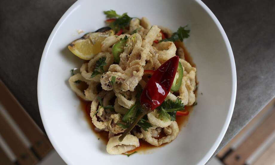 The Chile and Lime Calamari is a must-try dish at Arcade Midtown Kitchen. Photo: Lisa Krantz, San Antonio Express-News / San Antonio Express-News