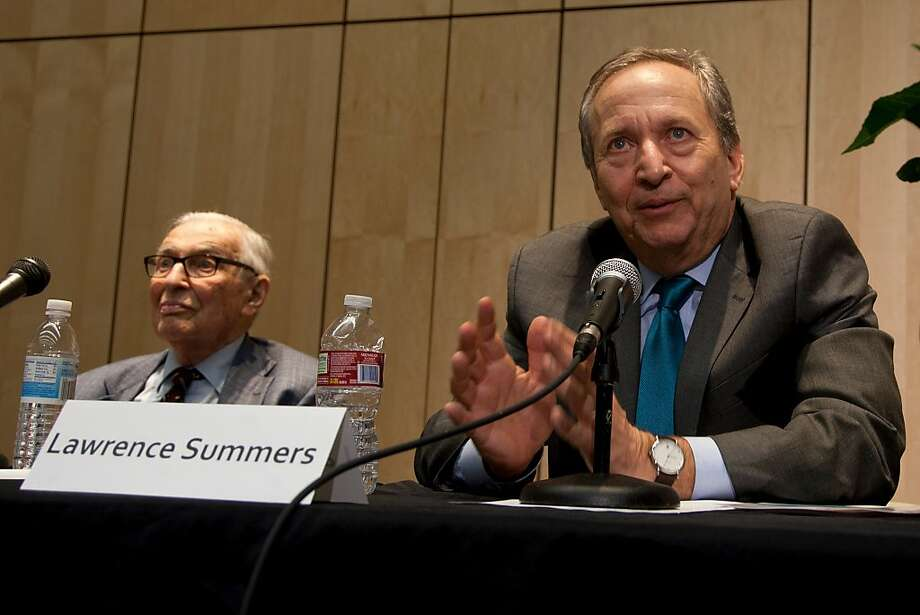 Economist Lawrence Summers, former U.S. Treasury secretary and White House adviser, promotes an initiative to improve the world's health at UCSF. Photo: Cindy Chew