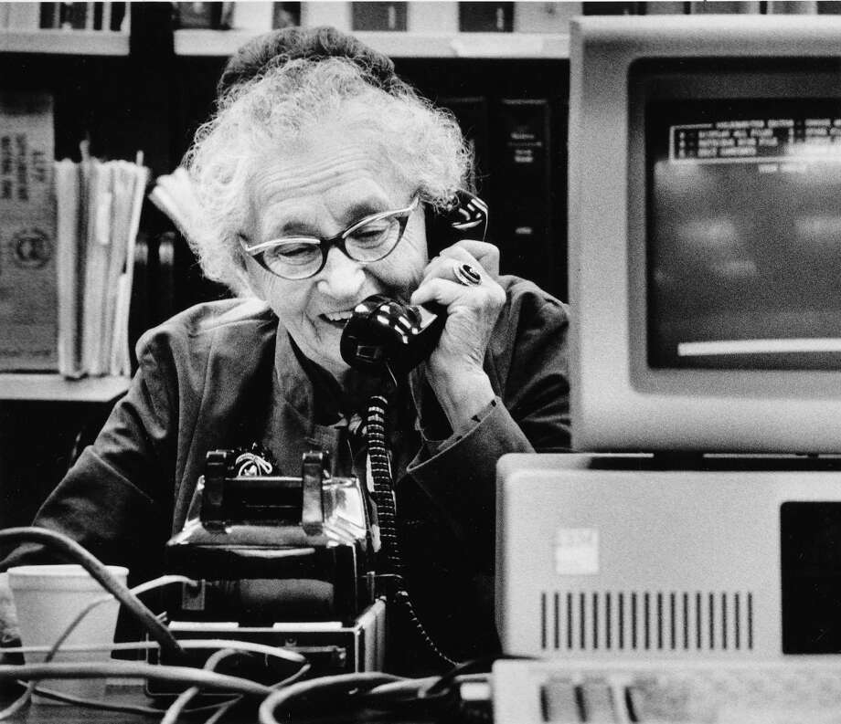 "In the '80s, Safeco used to sponsor a ""holiday hotline,"" which helped seniors make free, long-distance calls to loved ones. Pictured is Betty Young, 92, talking to her 90-year-old sister in Montana on Dec. 19, 1983.  Photo: -"