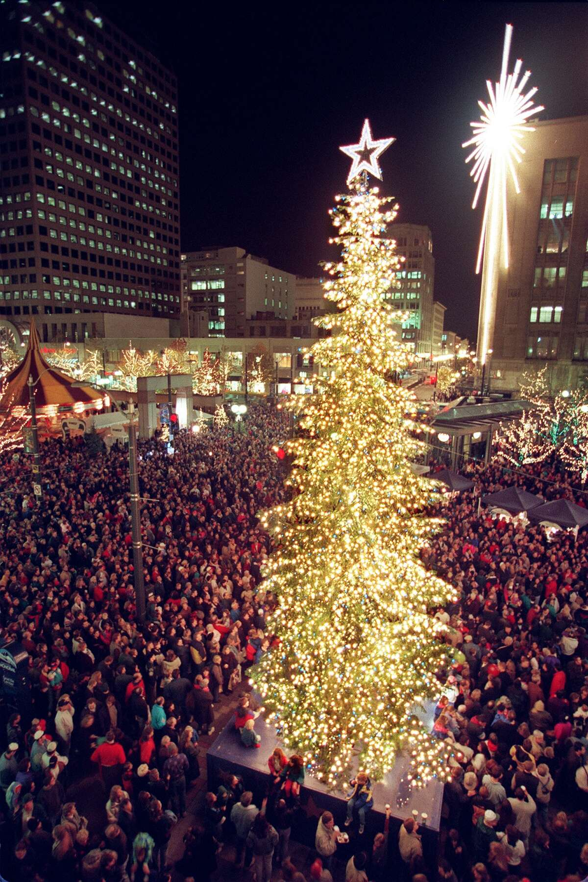 Opened in 1988, Westlake Center has hosted Seattle's giant tree-lighting ceremony for more than two decades. But what was Seattle's big-city event before the tree took over?