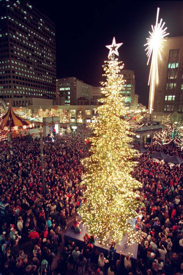 Opened in 1988, Westlake Center has hosted Seattle's giant tree-lighting ceremony for more than two decades. But what was Seattle's big-city event before the tree took over?  Photo: MERYL SCHENKER, -