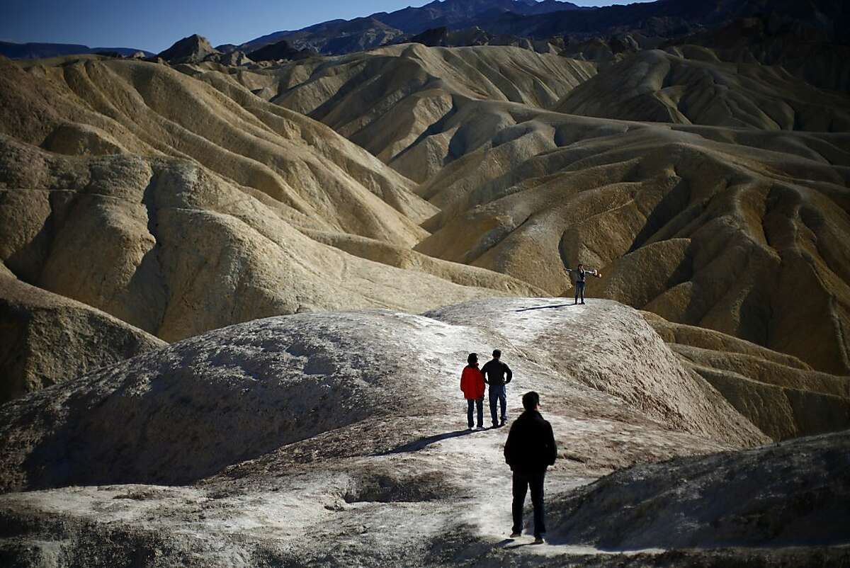 Zabriskie Point in Death Valley, Calif., Dec. 27, 2012. Death Valley is officially the hottest place on earth, now that meteorologists have thrown out a 136.4-degree reading claimed since 1922 by a city in Libya. (Eric Thayer/The New York Times)