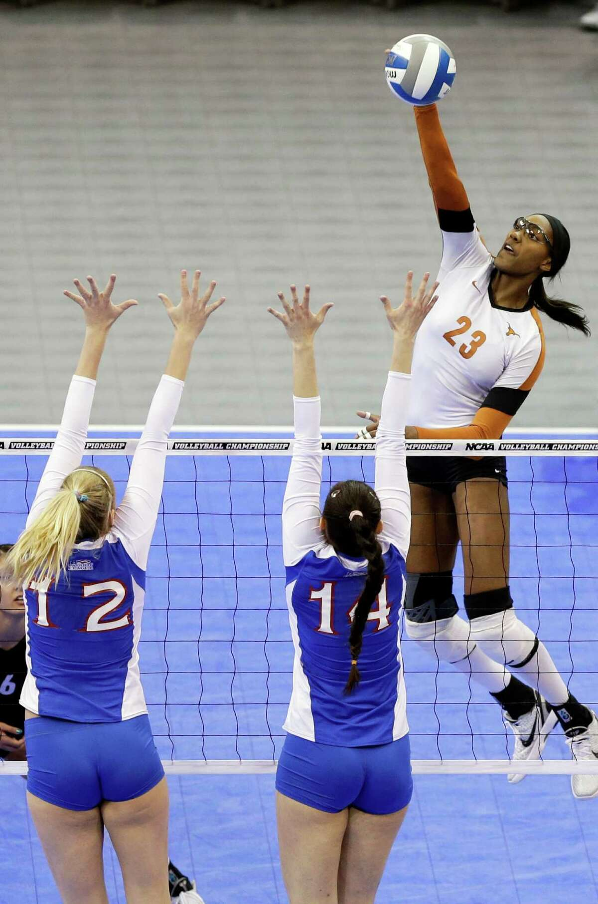 Bailey Webster, right, is the most experienced player as UT tries to repeat as national champion.