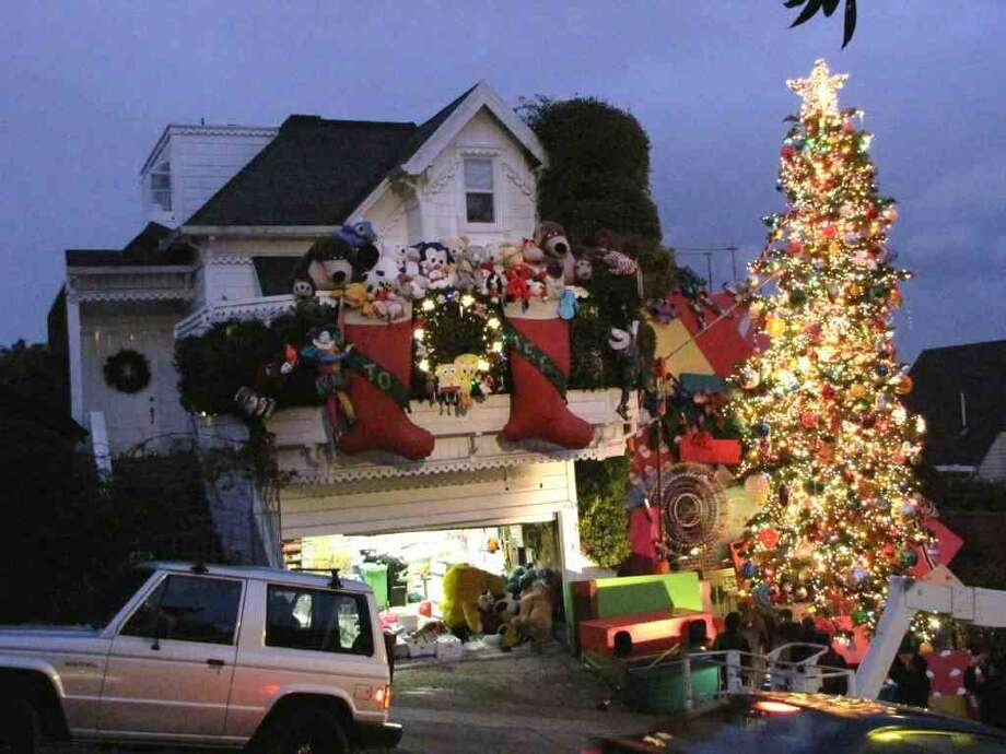 Nothing says Christmas like over-the-top light displays. Take a driving tour to see some of the Bay Area's most decked out homes (like the Tom and Jerry house in the Castro, pictured).  Photo: Lightsofthevalley.com