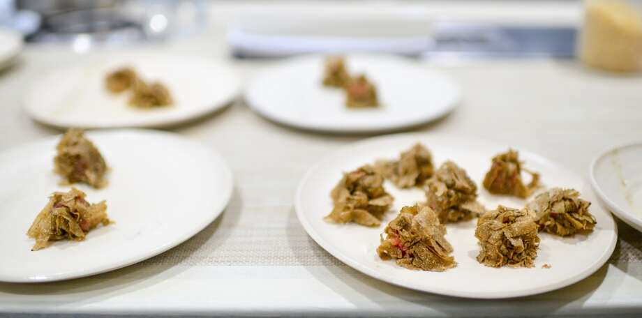 1st Course: Tuna Black Truffle Sphera (Ladner) Photo: Bonjwing Lee Photography