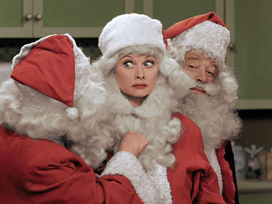 Lucille Ball stars in a 1950s Christmas special that will be aired in a colorized version Friday on CBS. Photo: Associated Press