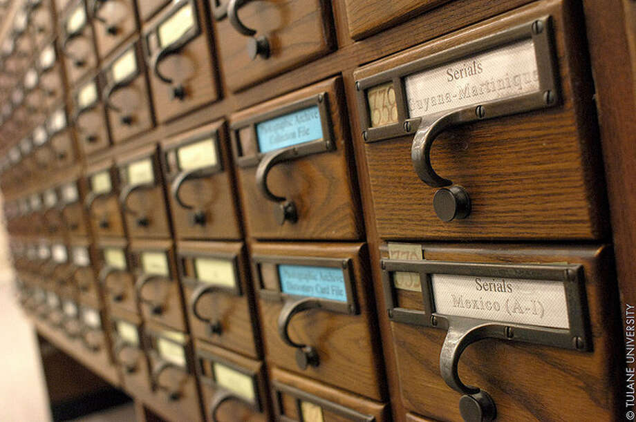 Card catalogs (Flickr / Tulane PR)