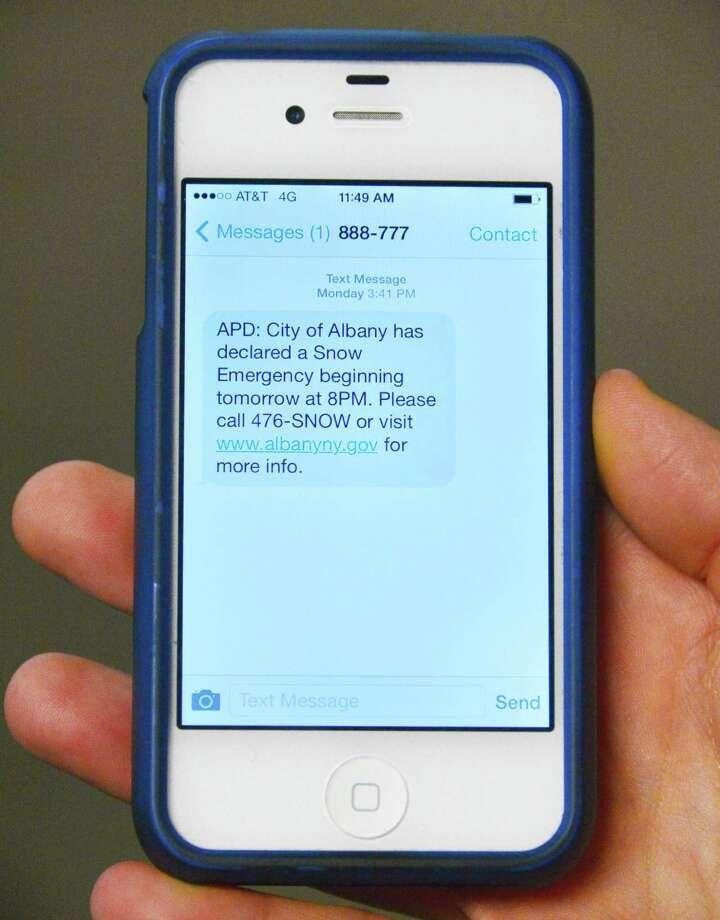 Do you delete text messages? (John Carl D'Annibale / Times Union) Photo: John Carl D'Annibale / 10025092A