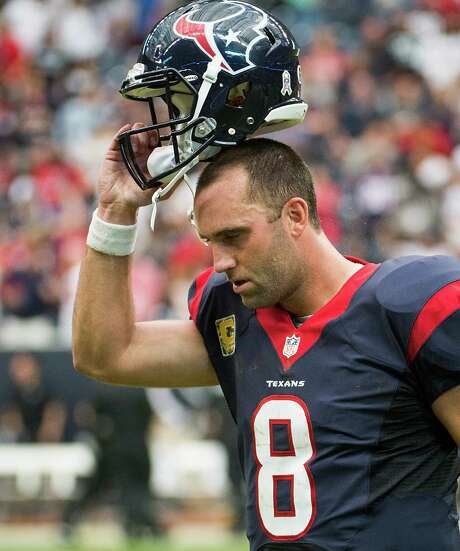 Matt Schaub had a frustrating 2013 season. Photo: Smiley N. Pool, Staff / © 2013  Houston Chronicle