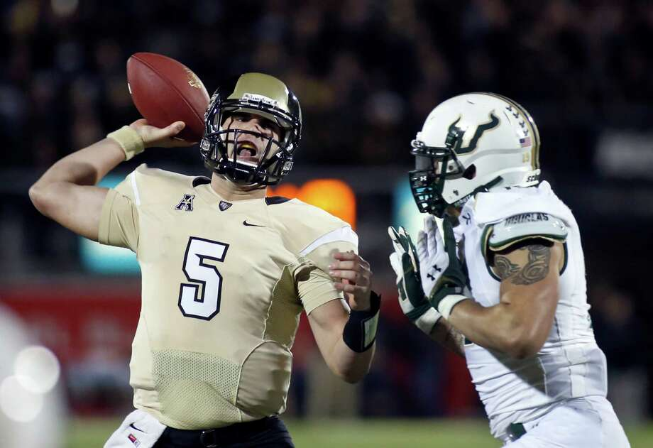 UCF's Blake Bortles is closing fast in the quarterback derby for the upcoming NFL draft. Photo: Reinhold Matay, FRE / FR156687 AP