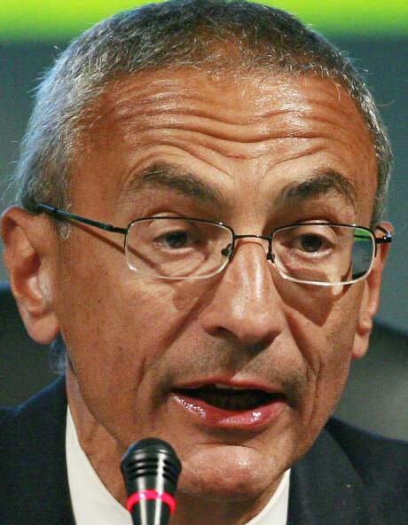 John Podesta, hired as a White House adviser, made the remark in Politico magazine. / FR156391 AP