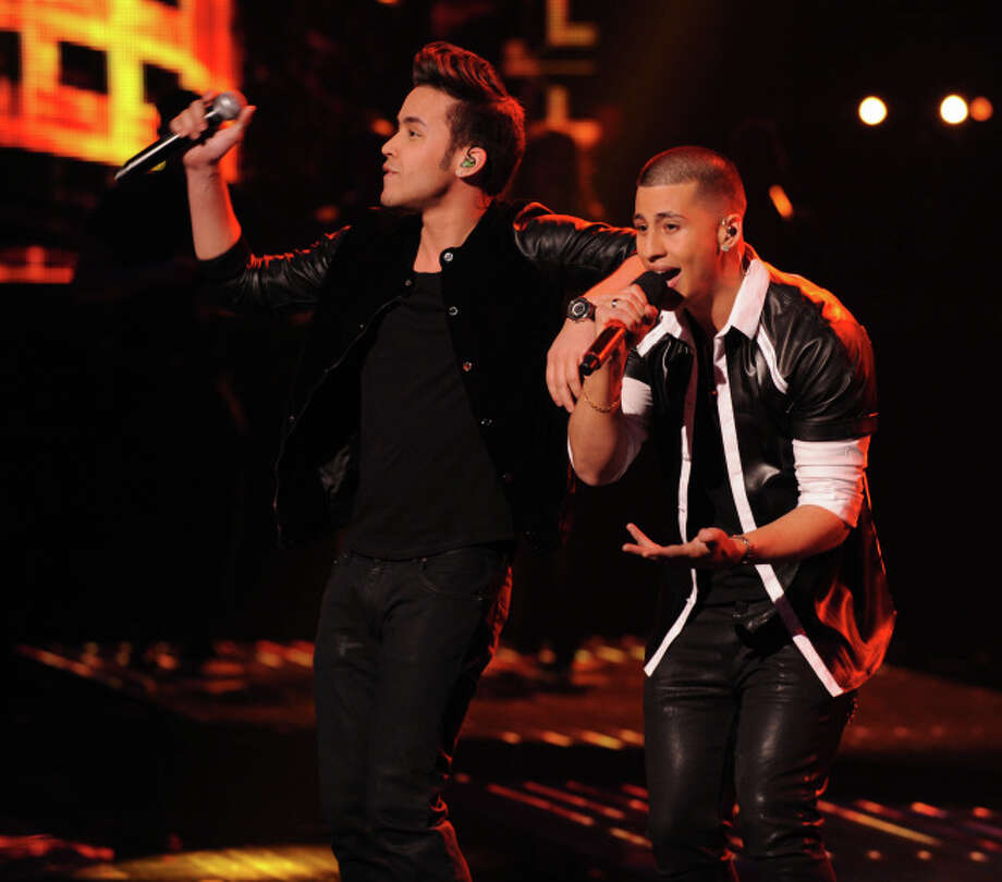 THE X FACTOR: Carlito Olivero and Prince Royce perform together on THE X FACTOR airing Wednesday, Dec. 18 (8:00-10:00 PM ET/PT) on FOX.  CR: Ray Mickshaw / FOX.