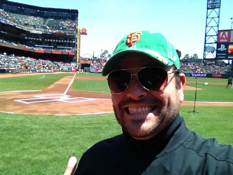 Adam at a recent Giants game at AT&T Park. He hasn't been to Candlestick since the Giants left. Photo: Courtesy Adam Flowers