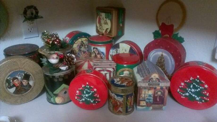 Beverly Kuykendall submitted this, writing that many of the decorations in her home are part of collections. Here's her collection of tin boxes. Photo: Courtesy Photo