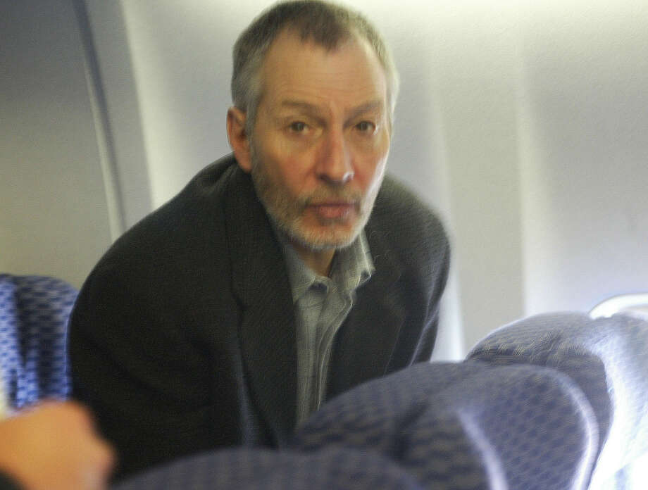 Robert Durst boards a Continental flight leaving  Philadelphia airport to stand trial for murder. Photo: G.N.  Miller, NY Post