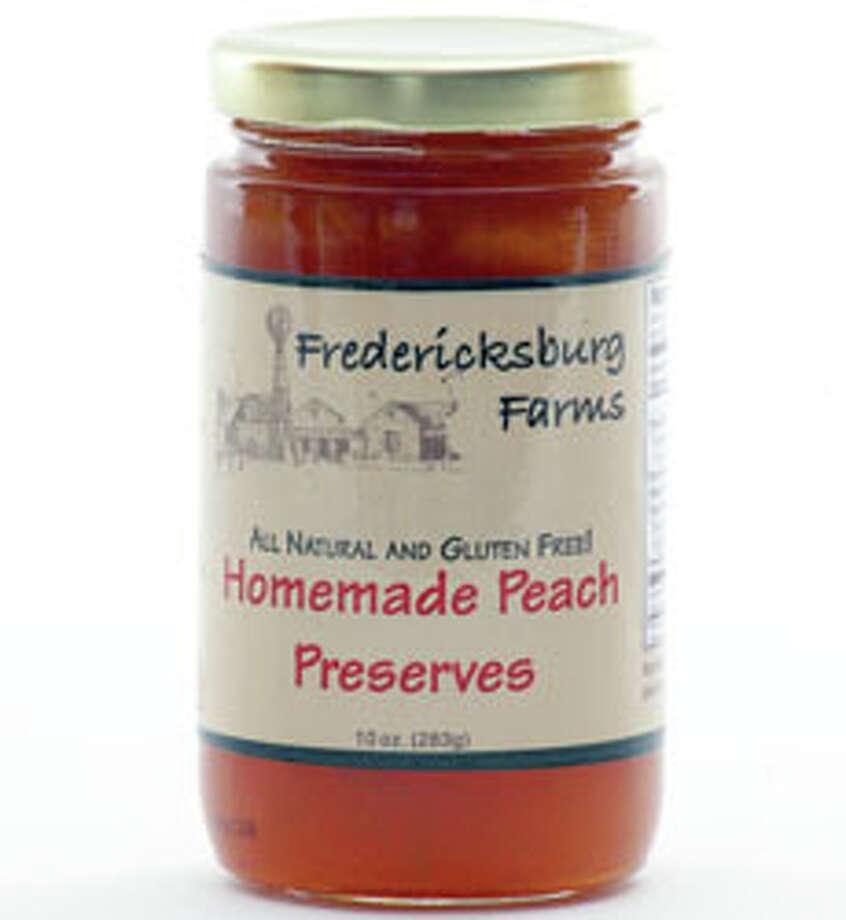 Delicious homeade peach preserves from Fredericksburg Farms for $6.95. Photo: Fbgfarms.com