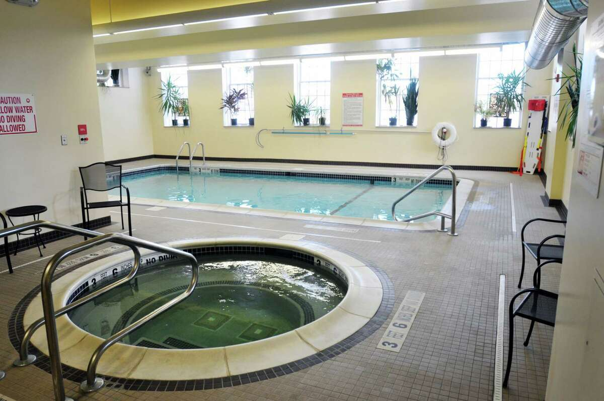 A view of pool and spa area at The Lofts at Harmony Mills seen here on Monday, Dec. 16, 2013 in Cohoes, NY. (Paul Buckowski / Times Union)