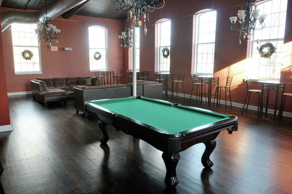 A view of the lounge at The Lofts at Harmony Mills seen here on Monday, Dec. 16, 2013 in Cohoes, NY. (Paul Buckowski / Times Union)