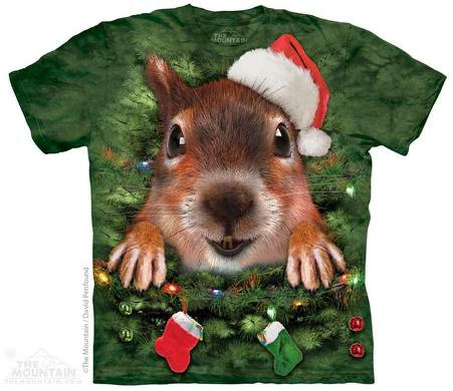 "The Mountain's holiday T-shirt pitch said: ""Who really wants to wear an itchy ugly sweater all night long? Switch it up this year with these super fun and crazy tees from The Mountain."" Alvin and the Chipmunks beg: No. Stop. Don't. Photo: Courtesy Of TheMountain.com"