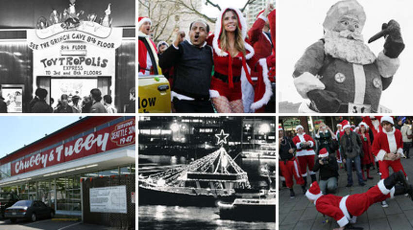 Seattle has long had its own way of celebrating Christmas, from Frangos and Frederick & Nelson to singing ships and pub-crawling Santas. Here's a look at how this city has traditionally welcomed the holiday season.